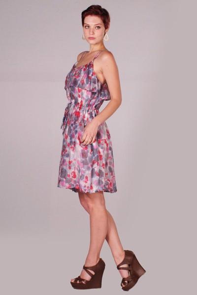 Lumiere watercolor floral dress